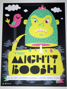 THE MIGHTY BOOSH - 2009 - GREEN VARIANT - MYSPACE SECRET SHOW CONCERT POSTER