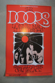 THE DOORS -1969 - COW PALACE - RANDY TUTEN - POSTER - JIM MORRISON - BILL GRAHAM