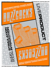 THE BUZZCOCKS - PORTLAND - SEATTLE - 2006 -GREG REINEL - TOUR POSTER -  STAINBOY