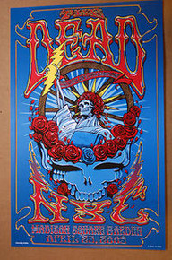 THE DEAD - MADISON SQUARE GARDEN - NYC - RICHARD BIFFLE - 2009 - TOUR  POSTER