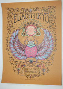THE BLACK KEYS - MARQ SPUSTA - BOTTLE ROCK - 2013 - NAPA VALLEY- TOUR POSTER -