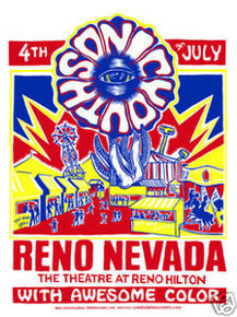 SONIC YOUTH - AWESOME COLOR - RENO HILTON -  MONKEYINK