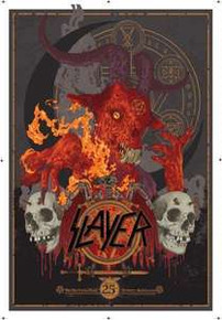 SLAYER - 2013 - SYDNEY - AUSTRALIA - TOUR POSTER - BIG TOP LUNA PARK