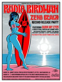 RADIO BIRDMAN - 2006 - AMERICAN MUSIC HALL - SAN FRANCISCO - POSTER -  STAINBOY