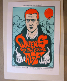 QUEENS OF THE STONE AGE - ANTWERP - 2013 - HOMME  - JERMAINE ROGERS -   POSTER