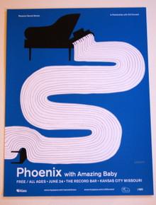 PHOENIX W/ AMAZING BABY - THE RECORD BAR - 2009 - MYSPACE SECRET SHOW POSTER