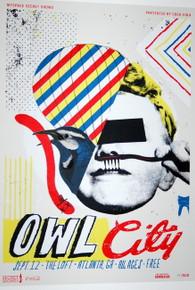 OWL CITY - THE LOFT - 2010 - ATLANTA - MYSPACE SECRET SHOW CONCERT POSTER