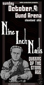 NINE INCH NAILS - NIN - QUEENS THE STONE AGE  - POSTER
