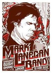 MARK LANEGAN - LONDON - UK - TOUR POSTER  - 2012 - SILK SCREEN - SHEPARDS BUSH