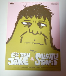 LESS THAN JAKE - SLIGHTLY STOOPID - TUCSON - MYSPACE SECRET SHOW CONCERT POSTER