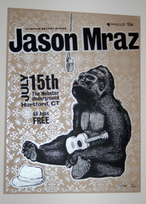 JASON MRAZ - WEBSTER UNDERGROUND - HARTFORD  - MYSPACE SECRET SHOW POSTER
