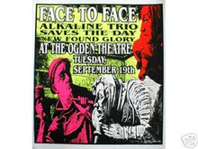 FACE TO FACE   - KUHN  -   POSTER - ALKALINE TRIO