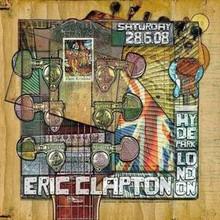 ERIC CLAPTON -2008- HYDE PARK POSTER - RARE - FIREHOUSE