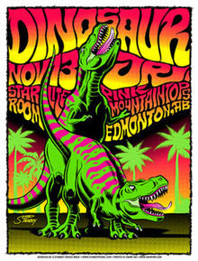 DINOSAUR JR - EDMONTON - GREG REINOL - SILKSCREEN - 2011 -TOUR POSTER - STAINBOY