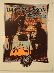 DALE WATSON - DREAMLAND - GAS MONKEY -  2014 - DALLAS - LINDSEY KUHN - POSTER