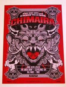 CHIMAIRA  -THE INFECTION - THE GROG SHOP - MYSPACE SECRET SHOW CONCERT POSTER
