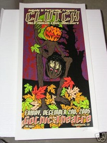 CLUTCH - DENVER 05- PITCHFORK  -POSTER - KUHN - LIMITED