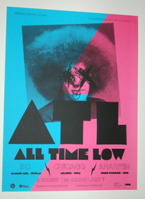 ATL - ALL TIME LOW - WARPED TOUR - CHICAGO - MYSPACE SECRET SHOW CONCERT POSTER