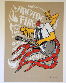 ARCADE FIRE - 2005 - CENTRAL PARK - ARTIST PROOF - JERMAINE ROGERS -   POSTER