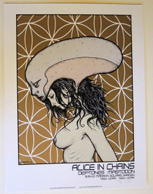 ALICE IN CHAINS - DEFTONES - ARTIST PROOF MSG NEW YORK CITY - 2010 -JERMAINE ROGERS - POSTER