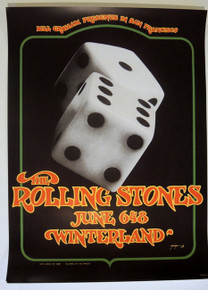THE ROLLING STONES - WINTERLAND - 1972 - DAVID SINGER - FILLMORE - BILL GRAHAM