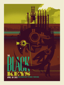 THE BLACK KEYS - 2013 - PITTSBURGH - TOM WHELAN - EL CAMINO - TOUR POSTER