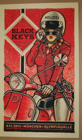 BLACK KEYS - GERMANY - MUNICH  - LARS P.KRAUSE - BROTHERS - 2012 -TOUR POSTER