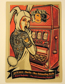 BLINK 182 - GERMANY - BERLIN - LARS KRAUSE - TOM DELONGE- 2012 -TOUR POSTER
