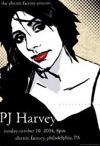 P J HARVEY - 2004 - ELECTRIC FACTORY - JOE WHYTE - PHILADELPHIA - TOUR POSTER