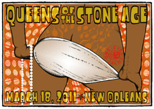 QUEENS OF THE STONE AGE - NEW ORLEANS - POSTER - KUHN