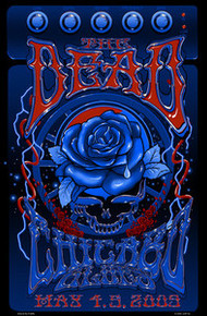 THE DEAD - CHICAGO - RICHARD BIFFLE - 2009 - PHIL LESH - BOB WEIR -TOUR  POSTER