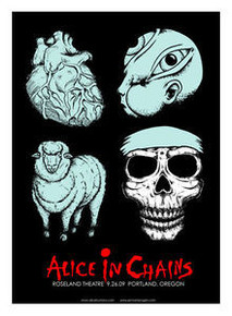 ALICE IN CHAINS - PORTLAND  - POSTER - JERMAINE ROGERS