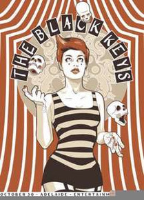 THE BLACK KEYS - 2012 - ADELAIDE - AUSTRALIA  - SILKSCREEN -  TOUR POSTER