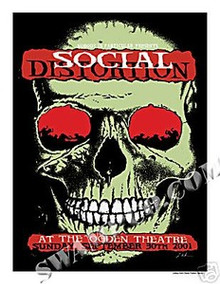 SOCIAL DISTORTION - RARE -- POSTER - KUHN