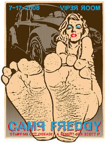 CAMP FREDDY - VIPER ROOM - HOLLYWOOD- POSTER - KUHN