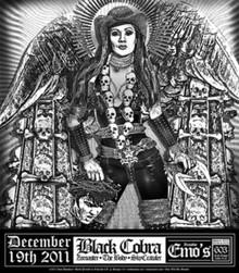 BLACK COBRA - EMOS AUSTIN - SXSW - 2011 - RON DONOVAN - POSTER -  ZOROASTER