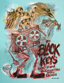 THE BLACK KEYS - 2008 - BROOKLYN - DAN GRZECA - TOUR POSTER