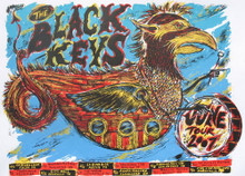 THE BLACK KEYS - 2007 TOUR POSTER - DAN GRZECA - AUSTIN - TULSA - NASHVILLE