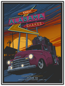 ALABAMA SHAKES - COURTNEY BARRETT - 2015 - CARY NC - VANCE KELLY - POSTER