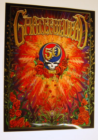 GRATEFUL DEAD - 50TH ANNIVERSARY - LENTICULAR POSTER - MIKE DUBOIS - FARE THEE WELL