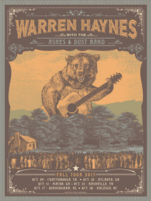 WARREN HAYNES -  ASHES AND DUST - JUSTIN HELTON - 2015 - SOUTHERN TOUR - ATLANTA - NASHVILLE