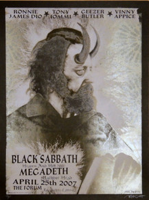 BLACK SABBATH - MEGADEATH - HEAVEN / HELL 2007 - THE FORUM - DELANO GARCIA -