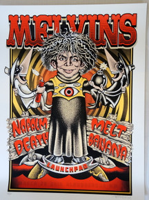 THE MELVINS - 2016 - LAUNCHPAD - ALBEQUERQUE - SILK SCREEN - DELANO GARCIA