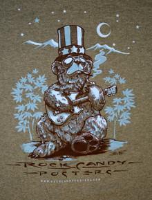 US BLUES - RICHARD BIFFLE - HEATHER GREEN -XL TEE SHIRT - ROCK CANDY POSTE