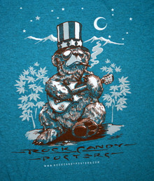 US BLUES - RICHARD BIFFLE - HEATHER BLUE - LARGE TEE SHIRT - ROCK CANDY POSTERS