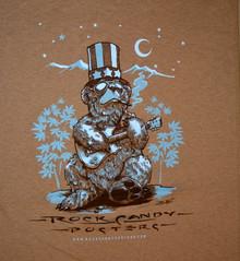 US BLUES - RICHARD BIFFLE - HEATHER BROWN - MEDIUM TEE SHIRT - ROCK CANDY POSTERS