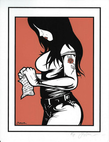 GIRL WITH TATTOO - ARTIST PROOF - MINI PRINT  - JERMAINE ROGERS - SIGNED