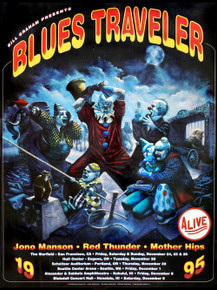 BLUES TRAVELER - 1995 - BGP134  - WARFIELD - RANDY CHAVEZ - SEATTLE - PORTLAND