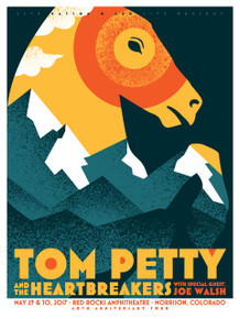 TOM PETTY - RED ROCKS - 2017 - JOE WALSH - ORIGINAL - TOUR POSTER - DAN STILES