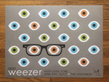 WEEZER - 2017 - THE SHOWBOX - SEATTLE - KII ARENS - POSTER - RIVERS CUOMO